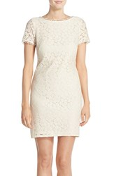 Women's Adrianna Papell Short Sleeve Lace Shift Dress