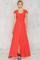 Nasty Gal Button Up And Drive Maxi Dress