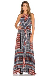 Twelfth St. By Cynthia Vincent Front Ruffle Maxi Dress Black