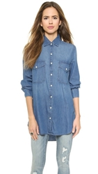 Bb Dakota Dakota Collective Marlow Denim Shirt Light Marble