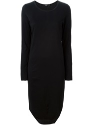 Bassike Long Sleeve T Shirt Dress Black