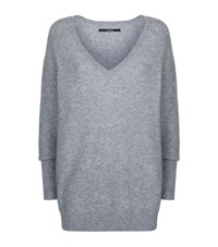 J Brand Bache V Neck Sweater Female Dark Grey
