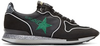 Golden Goose Black And Glitter Running Sneakers