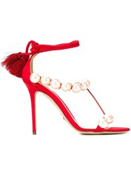 Paula Cademartori 'Diana' Sandals Red