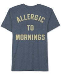 Jem Men's Allergic To Mornings Graphic Print T Shirt Indigo Black