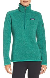 Patagonia Women's 'Better Sweater' Zip Pullover Impact Green