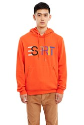 Esprit By Opening Ceremony Logo Hoodie Orange