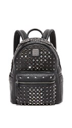 Mcm Crystal Mini Backpack Black