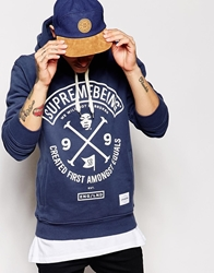 Supreme Being Supremebeing Colours Hoodie Blue