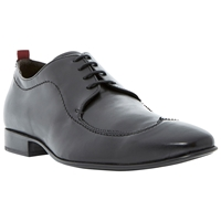 Bertie Ralphs Wingtip Leather Oxford Shoes Black