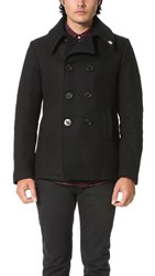 Gerald And Stewart By Fidelity Wool Quilt Lined Pea Coat Black