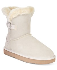 Styleandco. Style Co. Tiny 2 Cold Weather Booties Only At Macy's Women's Shoes Cream