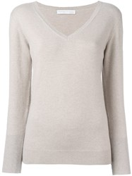 Fabiana Filippi Elbow Patch Jumper Nude And Neutrals