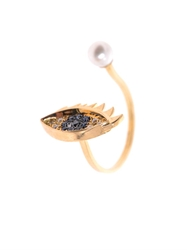 Delfina Delettrez Diamond Sapphire Pearl And Gold Eye Ring