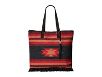 San Diego Hat Company Bsb1695 Woven Albuquerque Pattern Tote Black Red Tote Handbags
