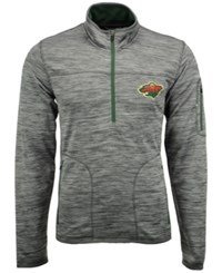 G3 Sports Men's Minnesota Wild Fast Pace 1 4 Zip Pullover Gray Green Heather