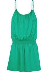 Heidi Klein Key West Voile Mini Dress Green