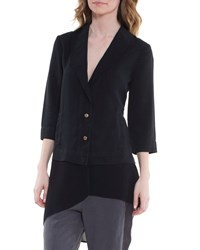 Xcvi Kelynn 3 4 Sleeve Two Button Jacket Black