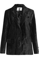 Topshop Unique Mayall Crushed Velvet Blazer