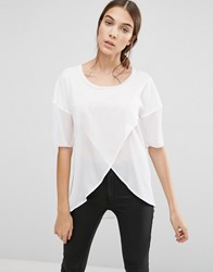 French Connection Polly Plains 3 4 Sleeve Tunic Summer White