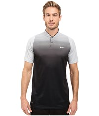 Nike Tiger Woods Vl Max Sphere Print Polo Wolf Grey Black Reflective Silver Men's Short Sleeve Pullover Gray