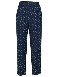 Fat Face Daisy Printed Trousers Navy
