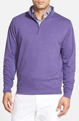 Men's Peter Millar Interlock Quarter Zip Sweatshirt Cabernet