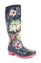 Joules Women's 'Neola' Rain Boot French Navy Floral