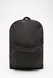 Forever 21 Mesh Paneled Nylon Backpack Black