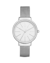 Skagen Ancher Mesh Bracelet Watch 30Mm White Silver