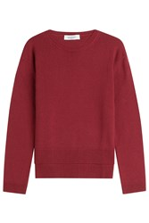 Valentino Cashmere Pullover With High Low Hem Red
