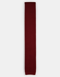 Noose And Monkey Knitted Tie Red