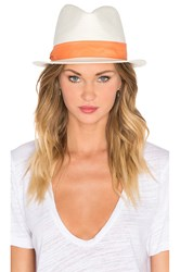 Michael Stars Pop Band Short Brim Panama Hat White