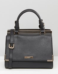 Dune Structured Frame Tote Bag Black