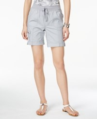 Styleandco. Style And Co. Active Drawstring Shorts Only At Macy's New Titanium