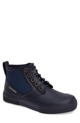 Tretorn Men's Mid Top Lace Up Rain Boot Navy