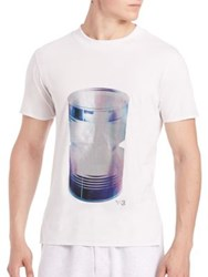 Y 3 Graphic Print Cotton Tee Crystal White