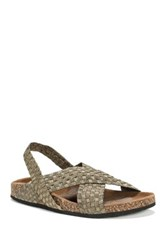 Muk Luks Morgan Wedge Sandal Brown