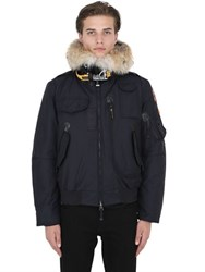 Parajumpers Gobi Down Bomber Jacket W Coyote Fur