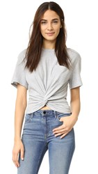 Alexander Wang Front Twist Tee Heather Grey