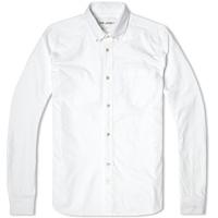 Everyman 1940S Button Down Shirt Heavy White Oxford