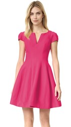 Halston Dress With Full Skirt Cerise