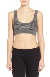 Rvca Marled Cable Knit Bralette Black