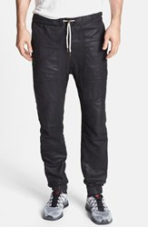 Men's Zanerobe 'Sureshot' Slim Tapered Leather Jogger Pants