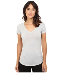 Lamade V Pocket Tee Tissue Jersey Arctic Grey Women's Short Sleeve Pullover Gray