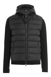Woolrich Puffer Coat With Contrast Sleeves Black