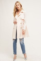 Anthropologie Doree Pleated Trench Peach