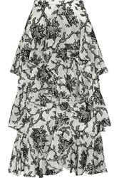 Erdem Simone Tiered Fil Coupe Midi Skirt