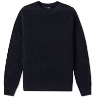 A.P.C. Claude Crew Knit Blue