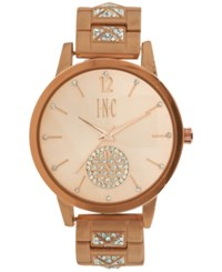 Inc International Concepts Women's Crystal Rose Gold Tone Bracelet Watch 40Mm In006rg A Macy's Exclusive Style